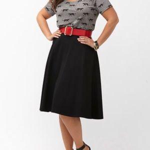 Lane Bryant Ponte Black Skirt size 26/28
